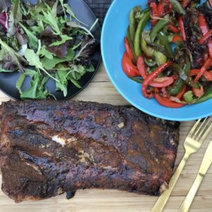 ribs and peppers