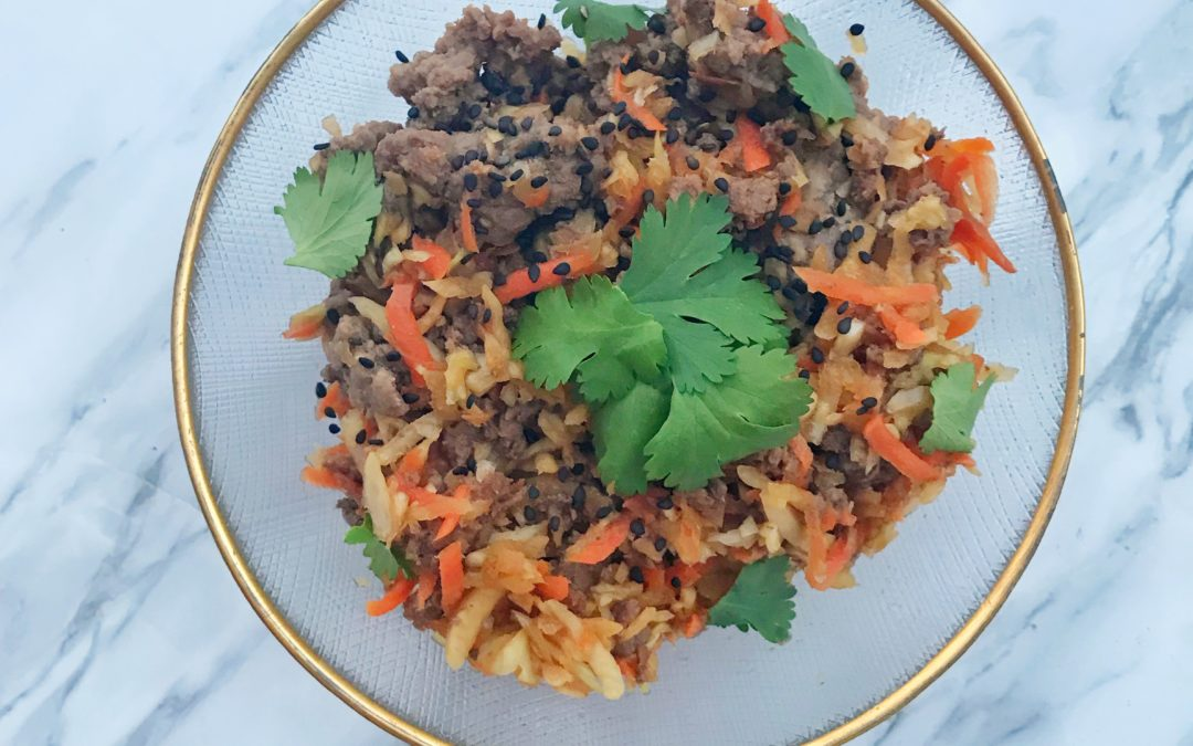 Stir Fried Beef & Cabbage