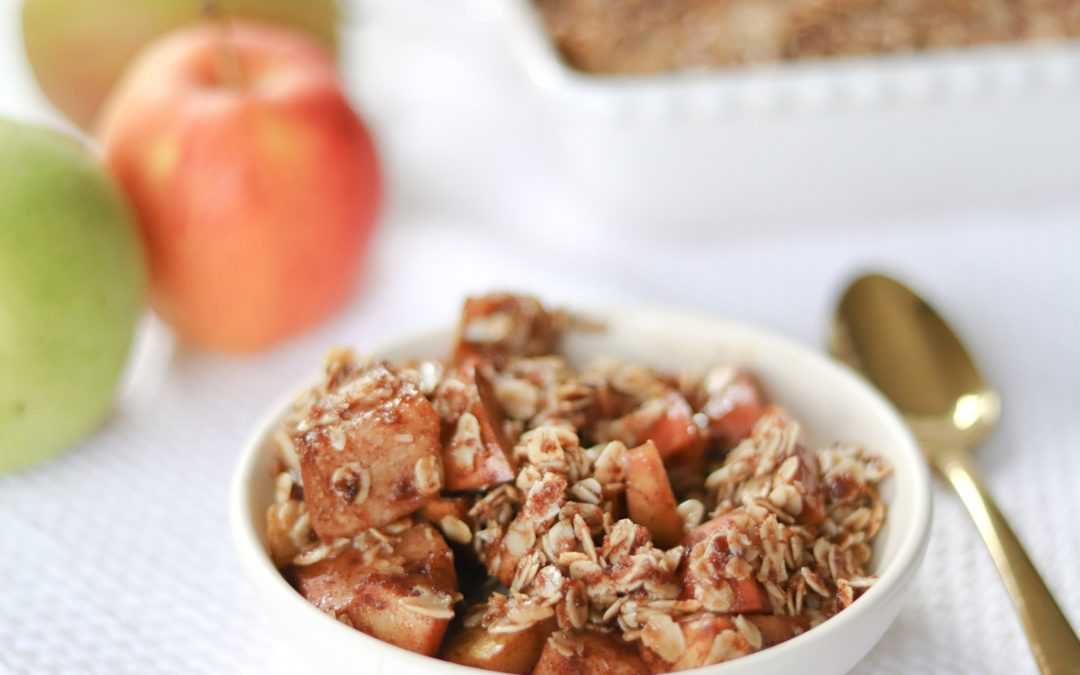Easy, Healthy, Thanksgiving Dessert: Apple-Pear Crumble